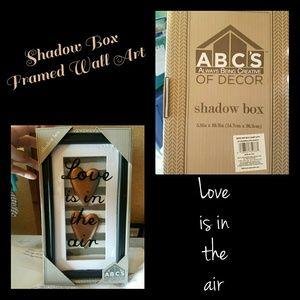 NEW FRAMED SHADOW BOX WALL ART